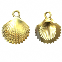 24K Gold Plated Sterling Silver Shell charm